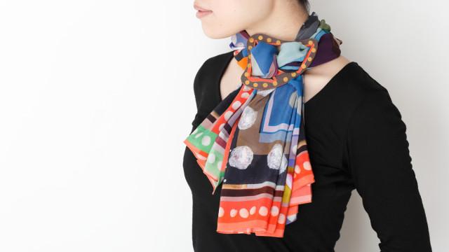 スカーフ × 太陽